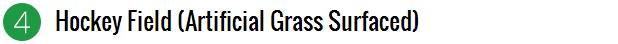 artificial grass surfaced - hockey field