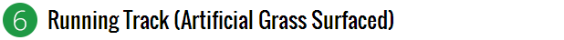 artificial grass surfaced - running track